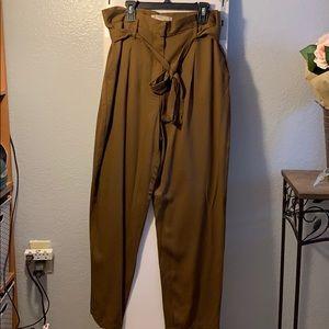 Brown paper bag pants